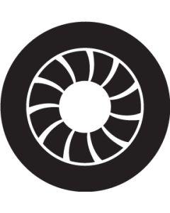 Art Deco Crop Circle gobo