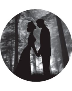 Kiss Silhouette Under Tree Grayscale gobo