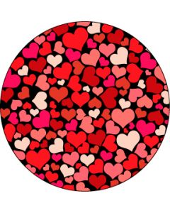 Red all my hearts gobo