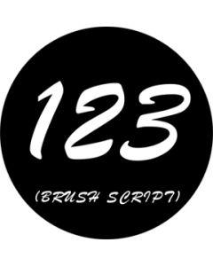Brush Script Numbers gobo