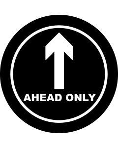 Ahead Only Arrow gobo