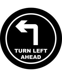 Left Ahead Arrow gobo