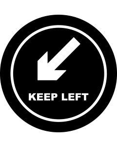 Keep Left Arrow gobo