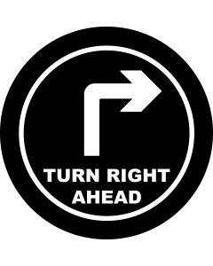 Right Ahead Arrow gobo