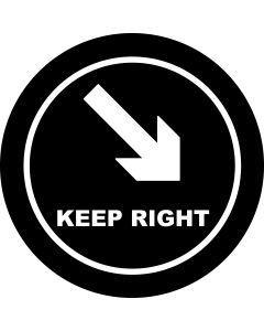 Keep Right Arrow gobo