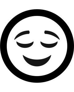 Relieved Face Emoji gobo