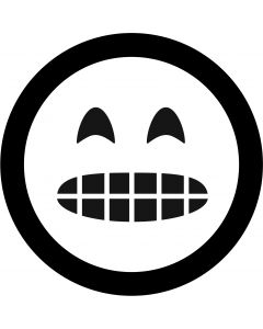 Grimacing Face Emoji gobo
