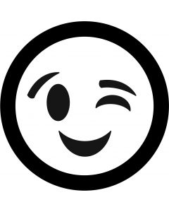 Winking Face Emoji gobo