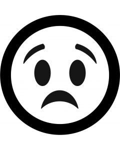 Worried Face Emoji gobo