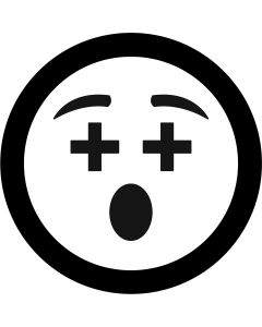 Cross Eyes Face Emoji gobo