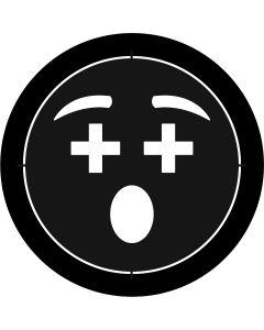 Cross Eyes Emoji gobo