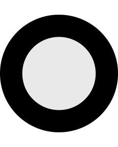 Circle Aperture 75% gobo
