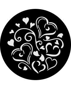 Heart Swirls gobo