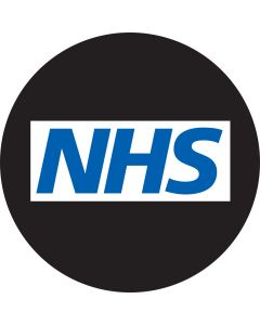NHS Blue Text gobo