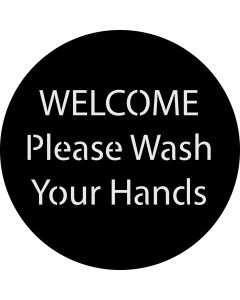 Welcome Wash Your Hands gobo