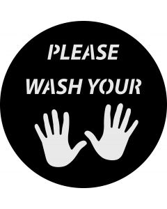 Please Wash Your Hands gobo