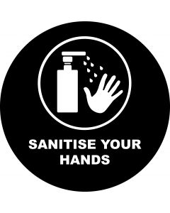 Sanitise Your Hands 4 gobo
