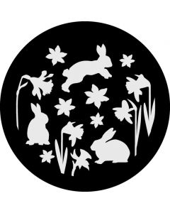 Spring Rabbits and Daffodils gobo