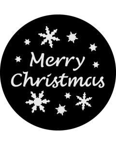 Merry Christmas Snowflake gobo