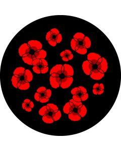 Poppies Watercolour Breakup 2 gobo