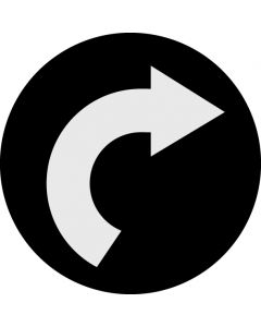 Curved Arrow gobo