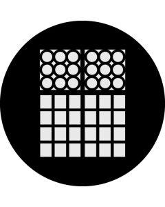 Detailed Double Window gobo