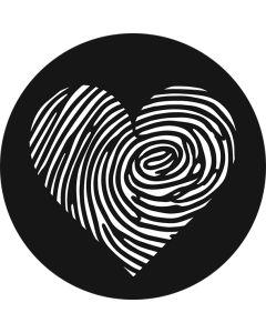 Fingerprint Heart gobo