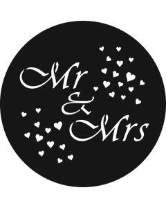 Mr & Mrs Hearts gobo