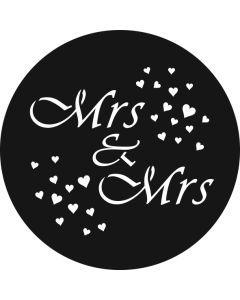 Mrs & Mrs Hearts gobo